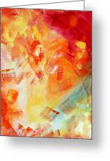 Abstract Art Colorful Bright Pastels Original Painting Spring Is Here I By Madart Greeting Card