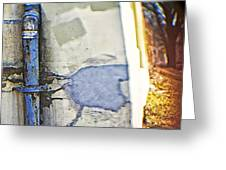 Abstract Blue Pipe Greeting Card