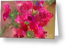 Abstract Bougainvillea Painting Floral Wall Art Greeting Card