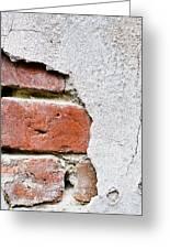 Abstract Brick Wall II Greeting Card