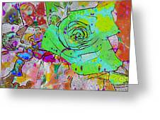 Abstract Childlike Rose Greeting Card
