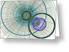 Abstract Circle Art Greeting Card