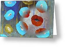 Abstract Colorful Poppies Greeting Card