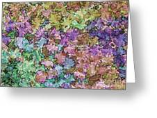 Abstract Colors Pale Greeting Card