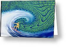 Abstract Computer Artwork Of Surfing The Internet Greeting Card by Laguna Design