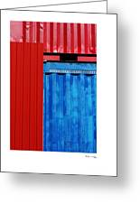 Abstract Construction Greeting Card by Xoanxo Cespon