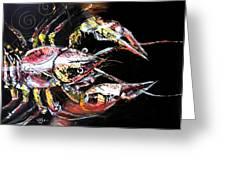 Abstract Crawfish Greeting Card