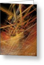 Abstract Crisscross Greeting Card