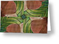 Abstract Curves Greeting Card