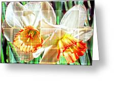 Abstract Daffodils  Greeting Card