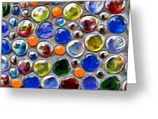 Abstract Digital Art Multi Colored Glass Balls Greeting Card