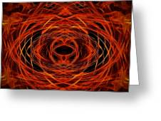 Abstract Fire Greeting Card