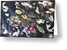 Abstract Fish212 Greeting Card