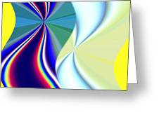 Abstract Fusion 50 Greeting Card