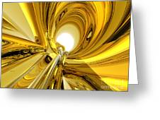 Abstract Gold Rings Greeting Card