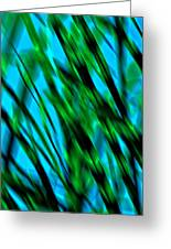 Abstract Green Grass Greeting Card