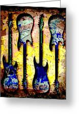 Abstract Guitars Greeting Card