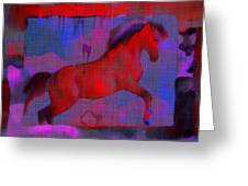 Abstract Horse Greeting Card