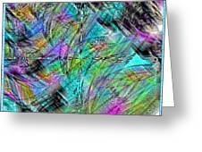 Abstract In Chalk Greeting Card