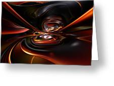 Abstract Lava Flow Fx  Greeting Card
