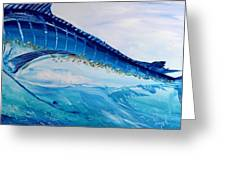 Abstract Marlin Greeting Card