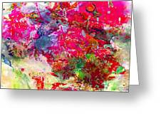 Abstract Multi Floral Greeting Card