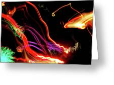Abstract Neon Lights Greeting Card