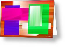 Abstract Number Three Greeting Card