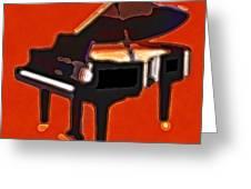 Abstract Piano Greeting Card