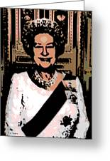 Abstract Portrait Of A Queen Greeting Card