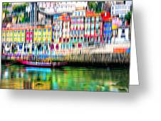 abstract Portuguese city Porto-1 Greeting Card