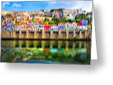 abstract Portuguese city Porto-5 Greeting Card