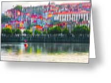 abstract Portuguese city Porto-6 Greeting Card
