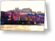 abstract Portuguese city Porto-8 Greeting Card