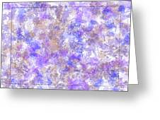 Abstract Purple Splatters Greeting Card