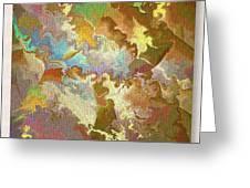 Abstract Puzzle Greeting Card by Deborah Benoit