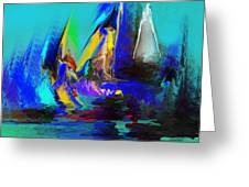Abstract Regatta Greeting Card
