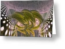 Abstract Rings Greeting Card