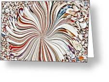 Abstract Seashells Greeting Card