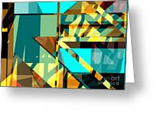 Abstract Sin 24 Greeting Card