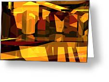 Abstract Sin 27 Greeting Card