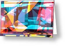 Abstract Sin 28 Greeting Card