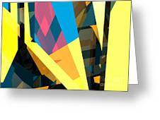 Abstract Sine L 16 Greeting Card