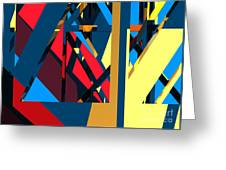 Abstract Sine L 19 Greeting Card