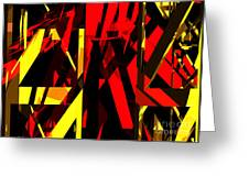 Abstract Sine L 20 Greeting Card