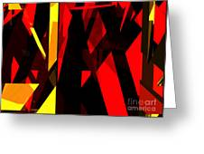 Abstract Sine L 21 Greeting Card
