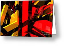 Abstract Sine L 5 Greeting Card
