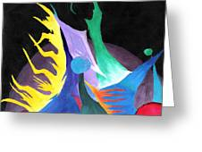 Abstract Space Greeting Card by Jera Sky