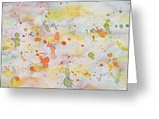 Abstract Summer Sky Watercolor Painting Greeting Card