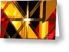 Abstract Tan 3 Greeting Card
